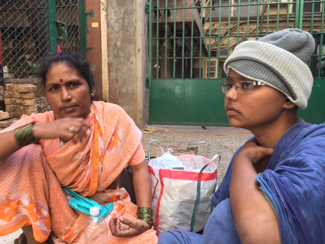 Jyoti Mane with her mother Shaila outside Tata Memorial Hospital. Photo: Priyanka Vora.