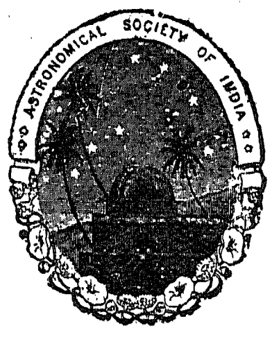 Astronomical Society seal by Frank Clinger Scallan. Source: Journal of Astronomical Society of India (1911-'12)