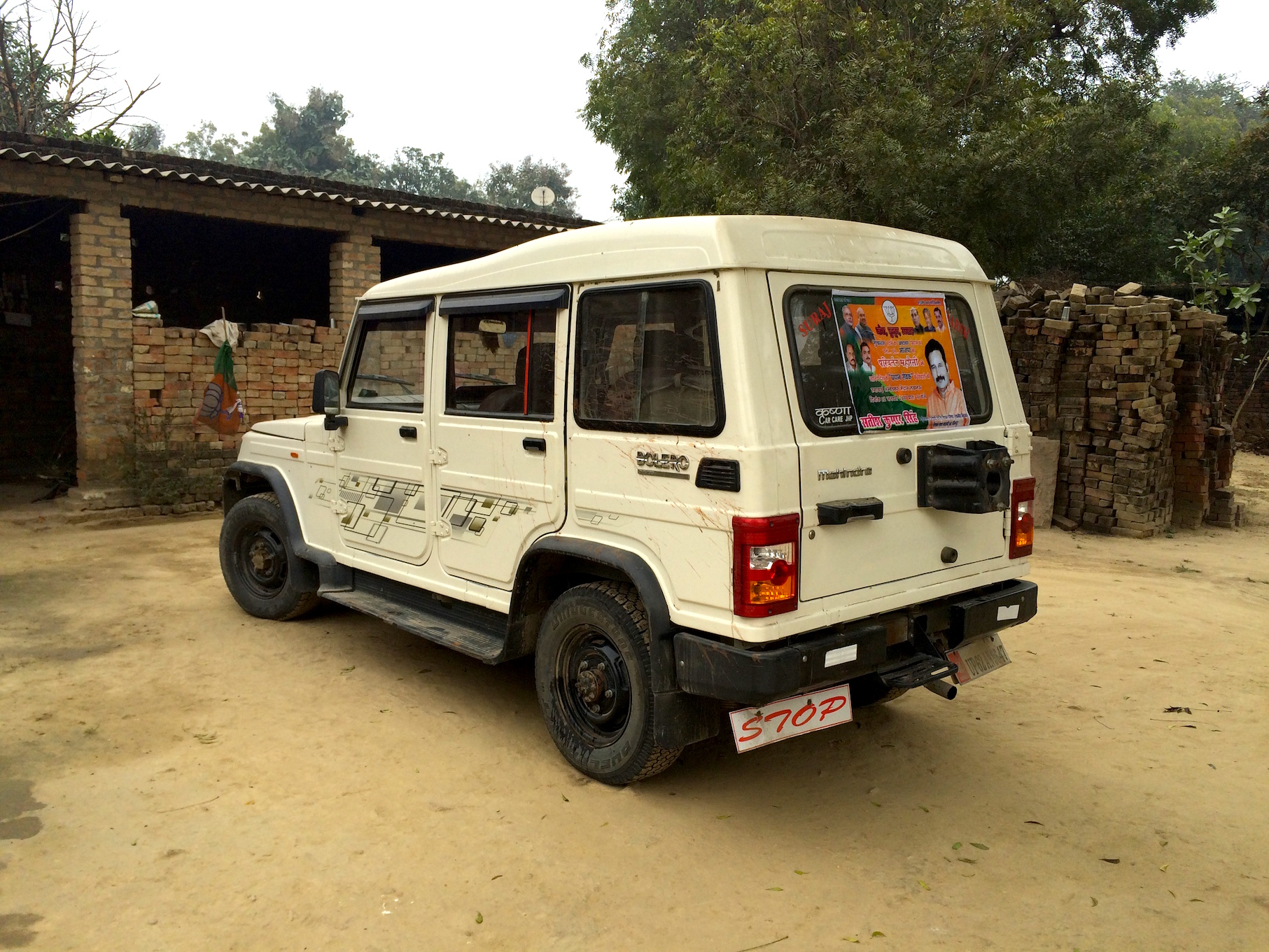 A day after the expedition, the Bolero was still parked in the Brahmin quarter.