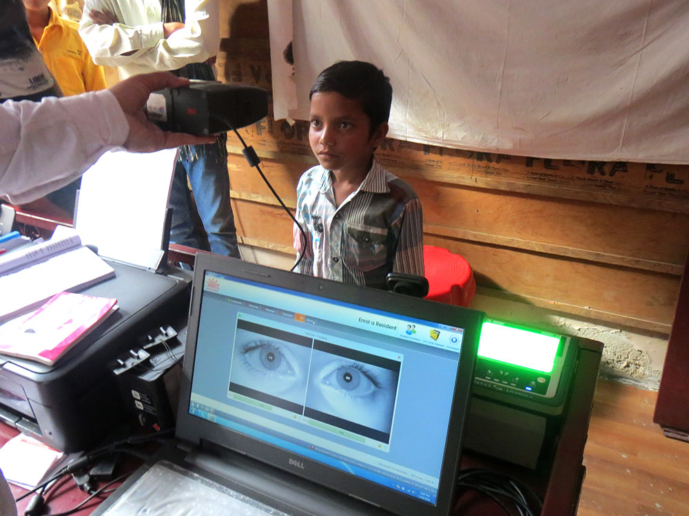 Seven year-old Abhishek Bairwa enrolled for Aadhaar at a private shop in Bagru, Jaipur.