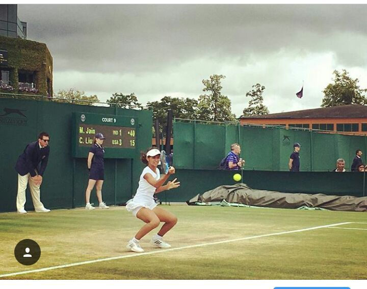 Playing at Wimbledon. Image Credit: Mahak Jain