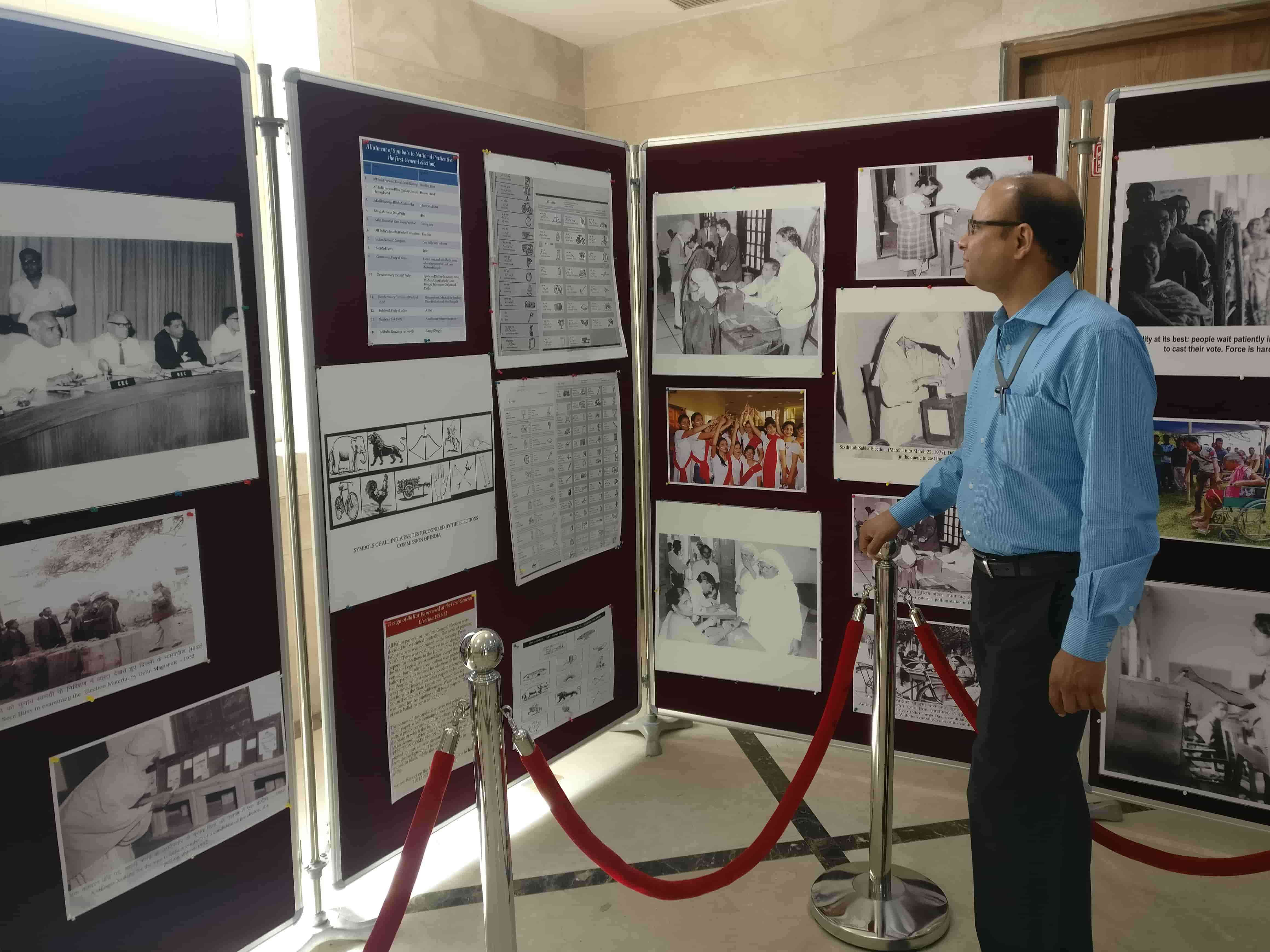 Vivek Khare, the institute's director, at the exihibition. Photo credit: Shreya Roy Chowdhury