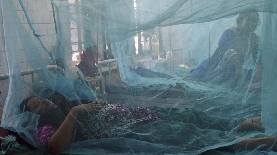 Dengue and chikungunya ward at Aruna Asaf Ali Hospital in New Delhi. (Saumya Khandelwal/HT File Photo)