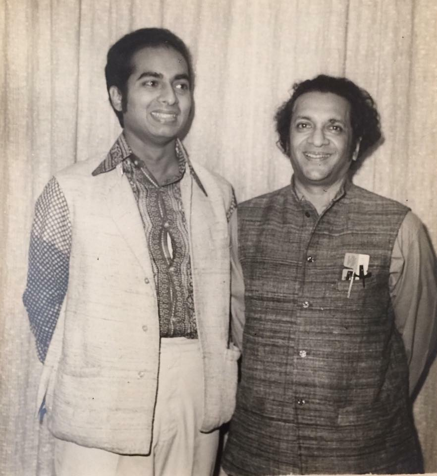 A young Ananda with his uncle, Ravi Shankar. Courtesy Tanusree Shankar.