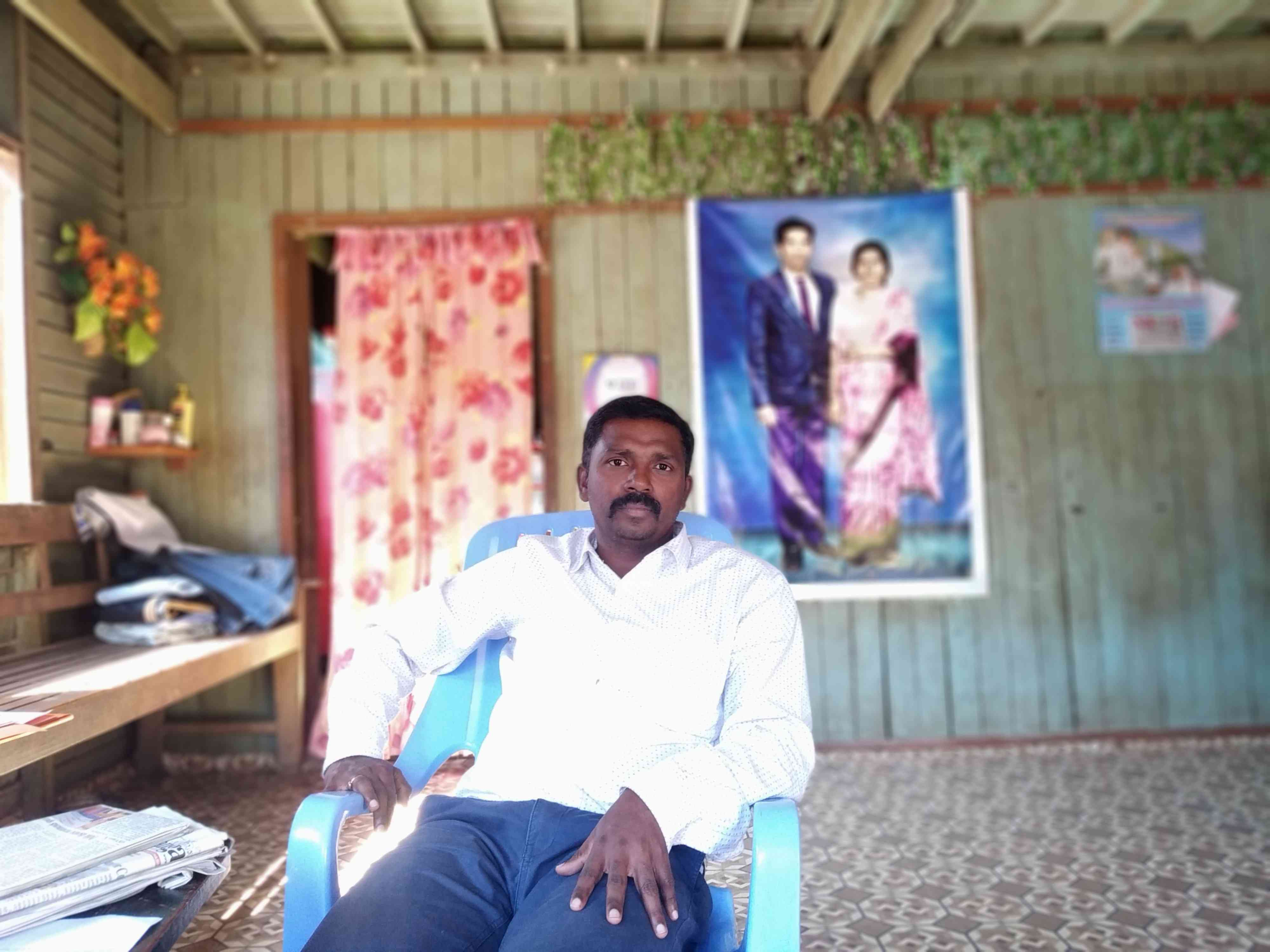 M Mohan fulfilled his childhood dream of going to Myanmar in December. Photo credit: Arunabh Saikia