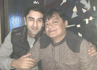 Ranbir Kapoor and Saswata Chatterjee. Image credit: Saswata Chatterjee Facebook fan page.