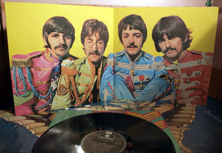 The vinyl and album art for Sgt. Pepper's. Photo credit: badgreeb RECORDS/Flickr[Licensed under CC BY 2.0]