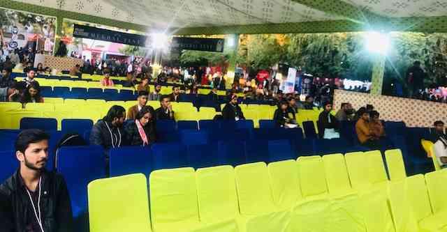 जेएलएफ-2019 में राजस्थानी भाषा को समर्पित एक सत्र में खाली पड़ी कुर्सियां | फोटो- पुलकित भारद्वाज