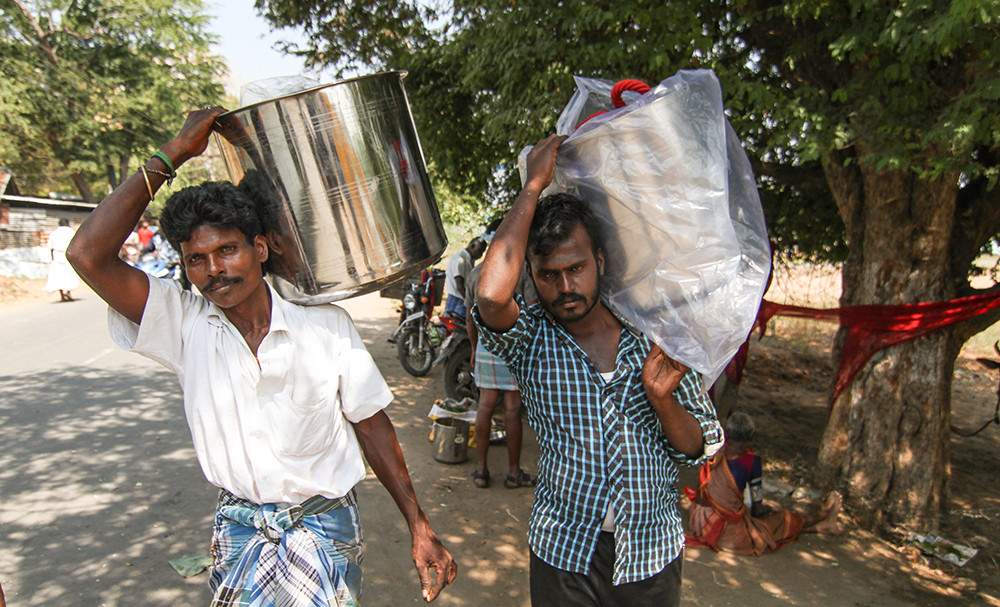 Two owners return home, carrying the gifts earned by their bulls. Rearing bulls is not cheap: some bulls come at a price of Rs 1 lakh and looking after them can cost Rs 300 a day. For most owners, therefore, Jallikattu is a loss-making affair. Yet, they participate because of their love for the sport and for the honour of being called a Jallikattu bull owner.