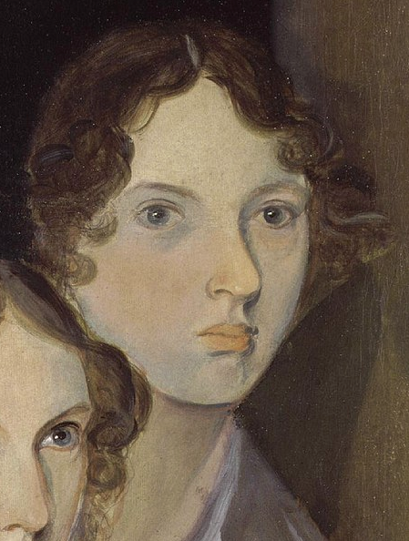 Emily Brontë, as painted by her brother Patrick Branwell Brontë, from a portrait with her sisters. (Credit: Wikimedia Commons)