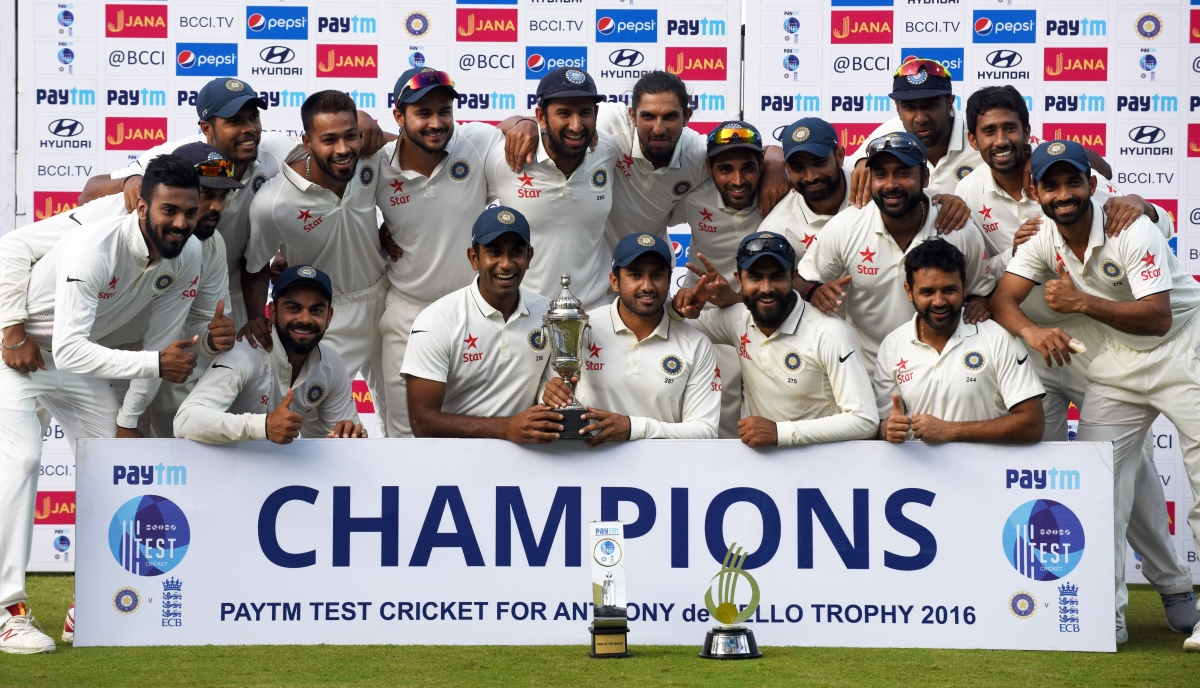 India ended the year by blanking England 4-0 in a five-Test series (Image credit: AFP)