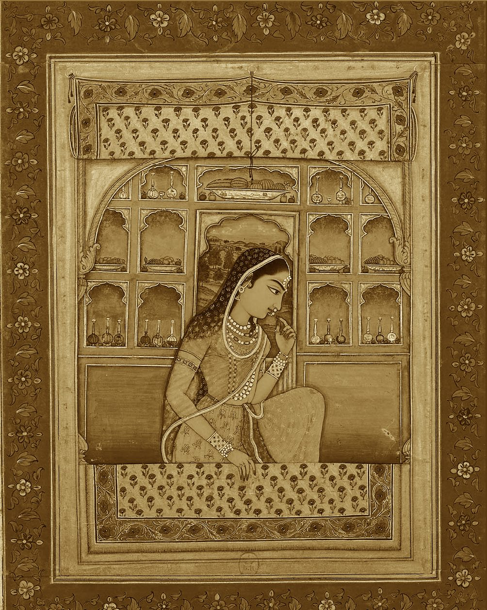 Princess Padmavati ca. 1765 Bibliothèque nationale de France, Paris