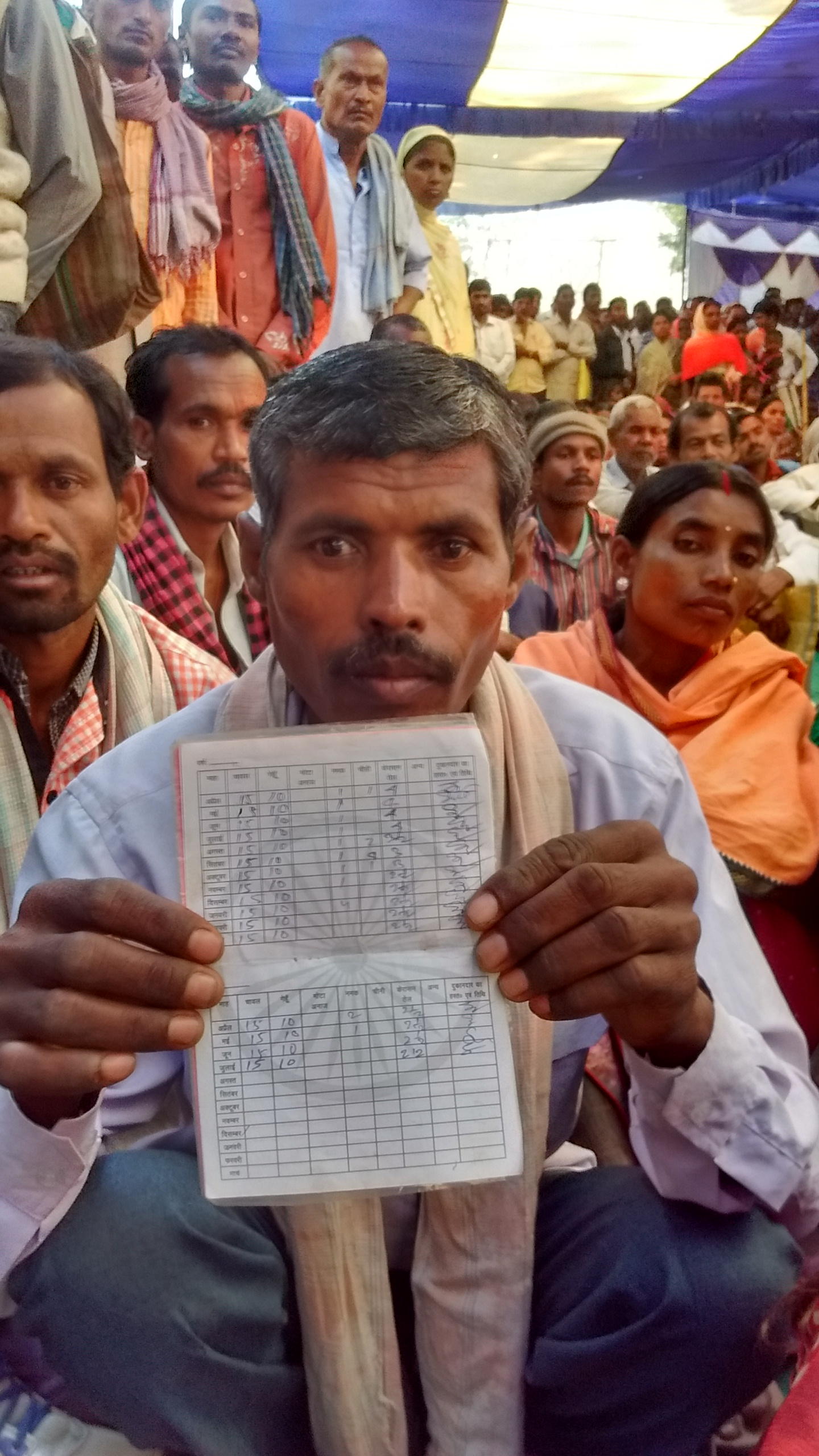Durga Singh's family's ration card was cancelled after his wife, to whose Aadhaar the card was linked, died. Photo credit: Anumeha Yadav