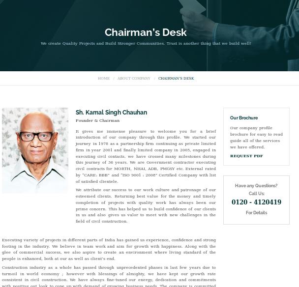RG Buildwell chairman was a senior leader of the Vishwa Hindu Parishad  and the Bajrang Dal in Uttar Pradesh and Uttarakhand.