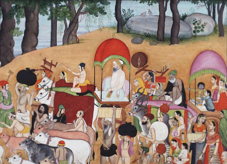 The Road to Brindaban, Pahari (Kangra) c 1770. Collection: National Museum.