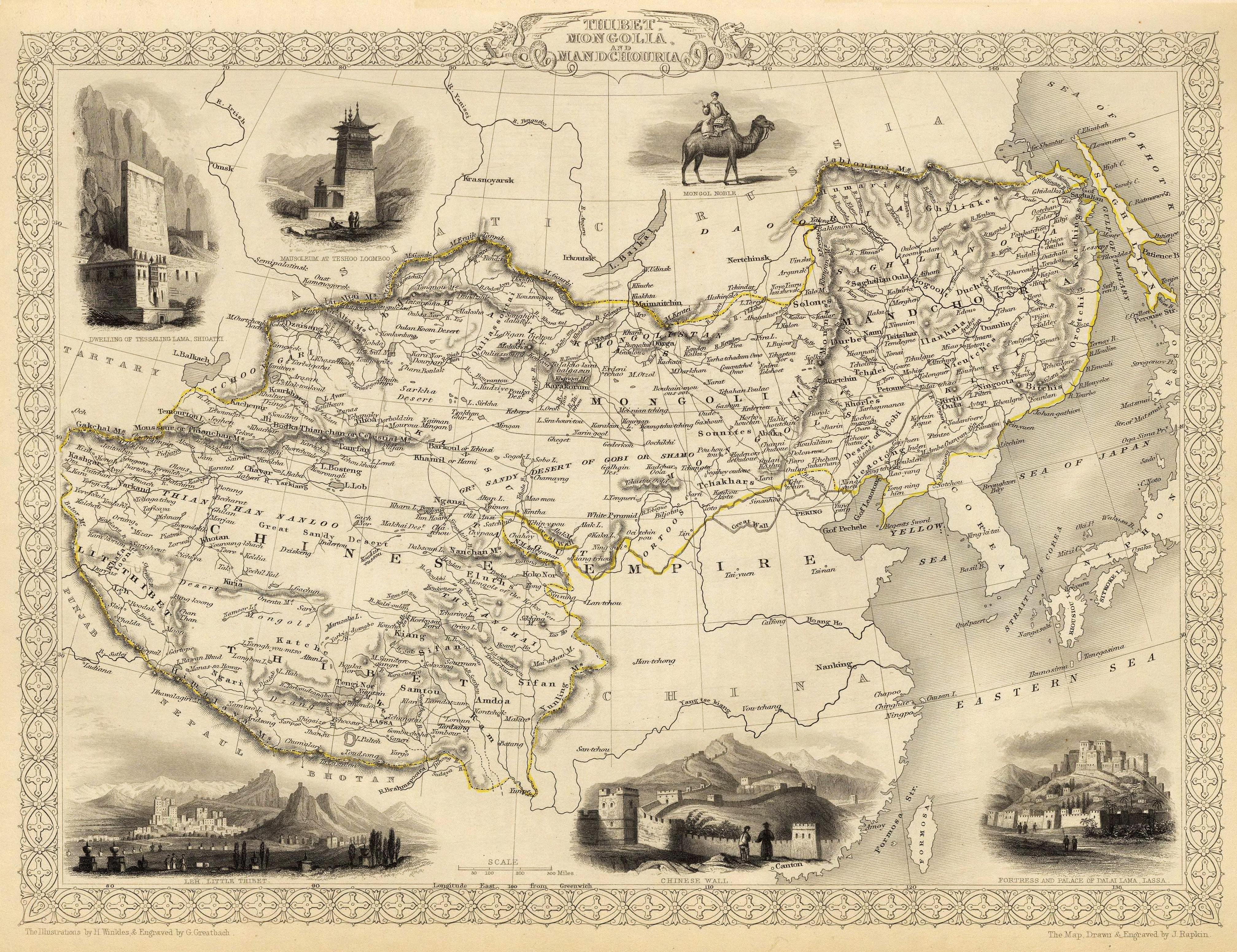 Old map of Tibet | Image credit: Wikimedia Commons
