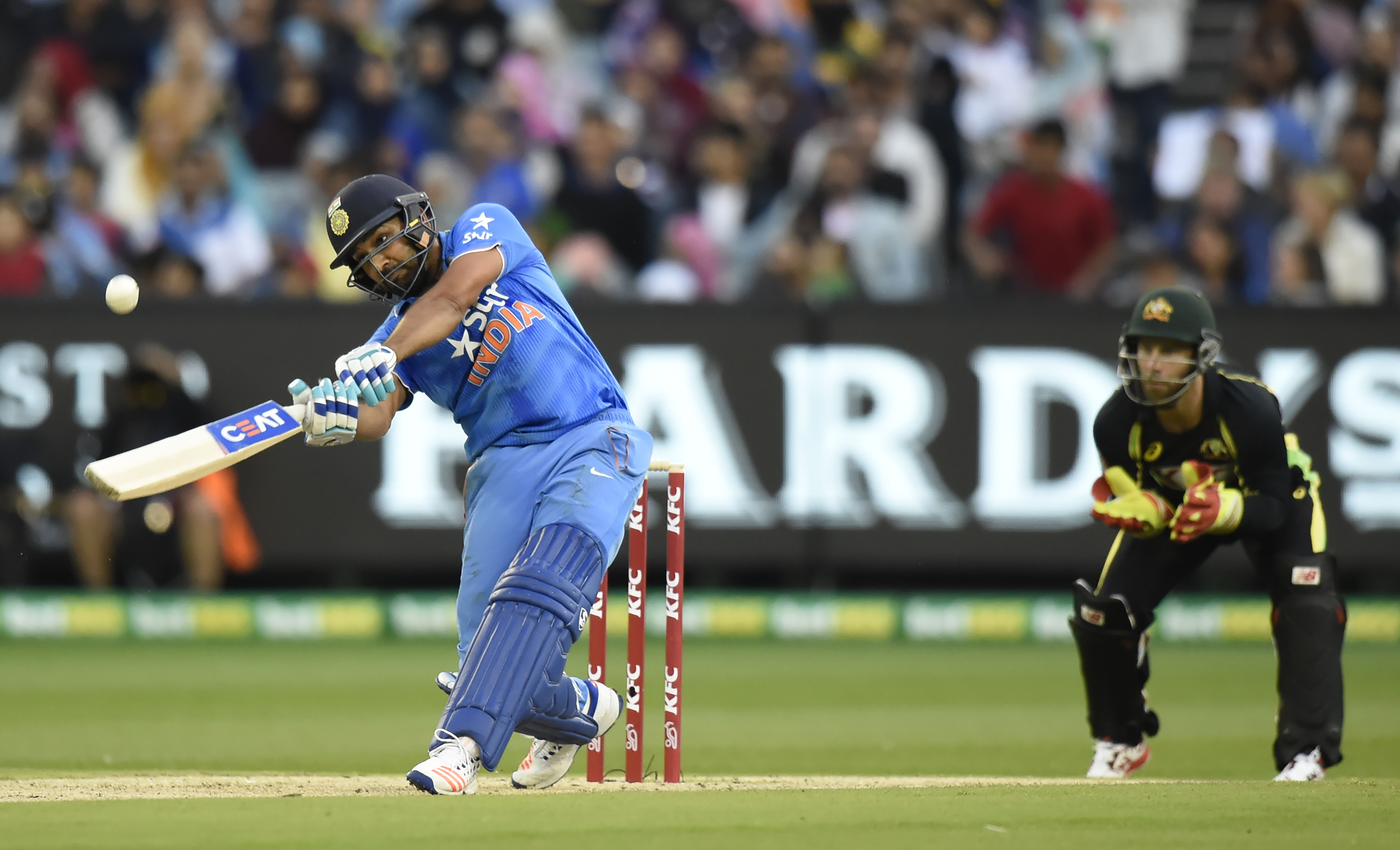 India blanked Australia 3-0 in a T20I series to end their nightmarish start to the year (Image credit: AFP)