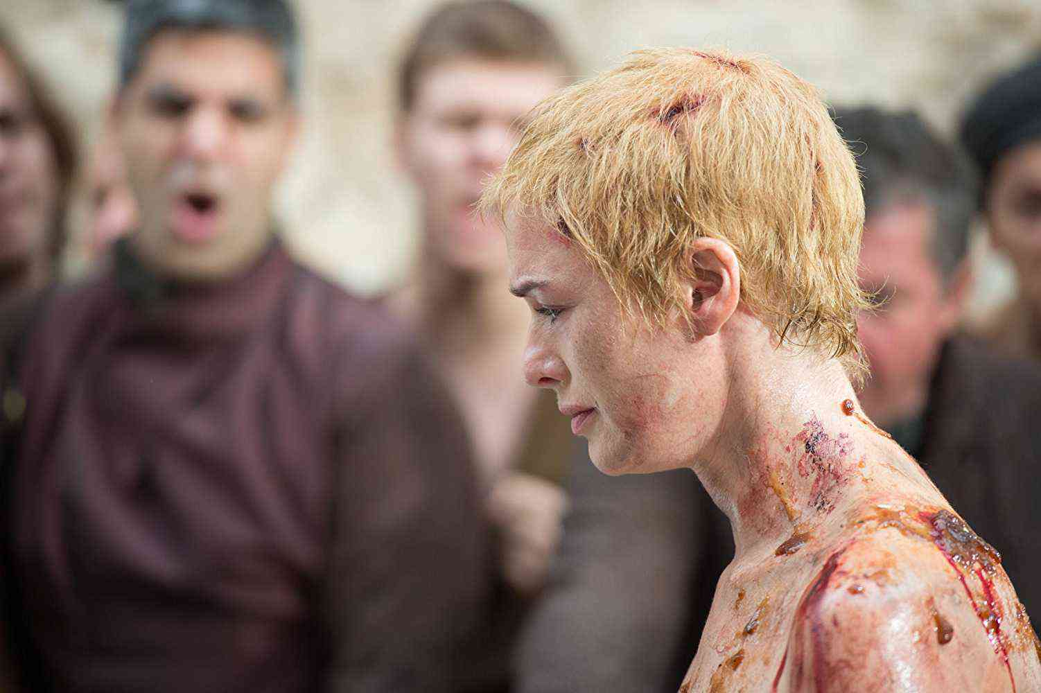 Cersei Lannister's (Lena Headey) Walk of Shame in Game of Thrones. Courtesy HBO.