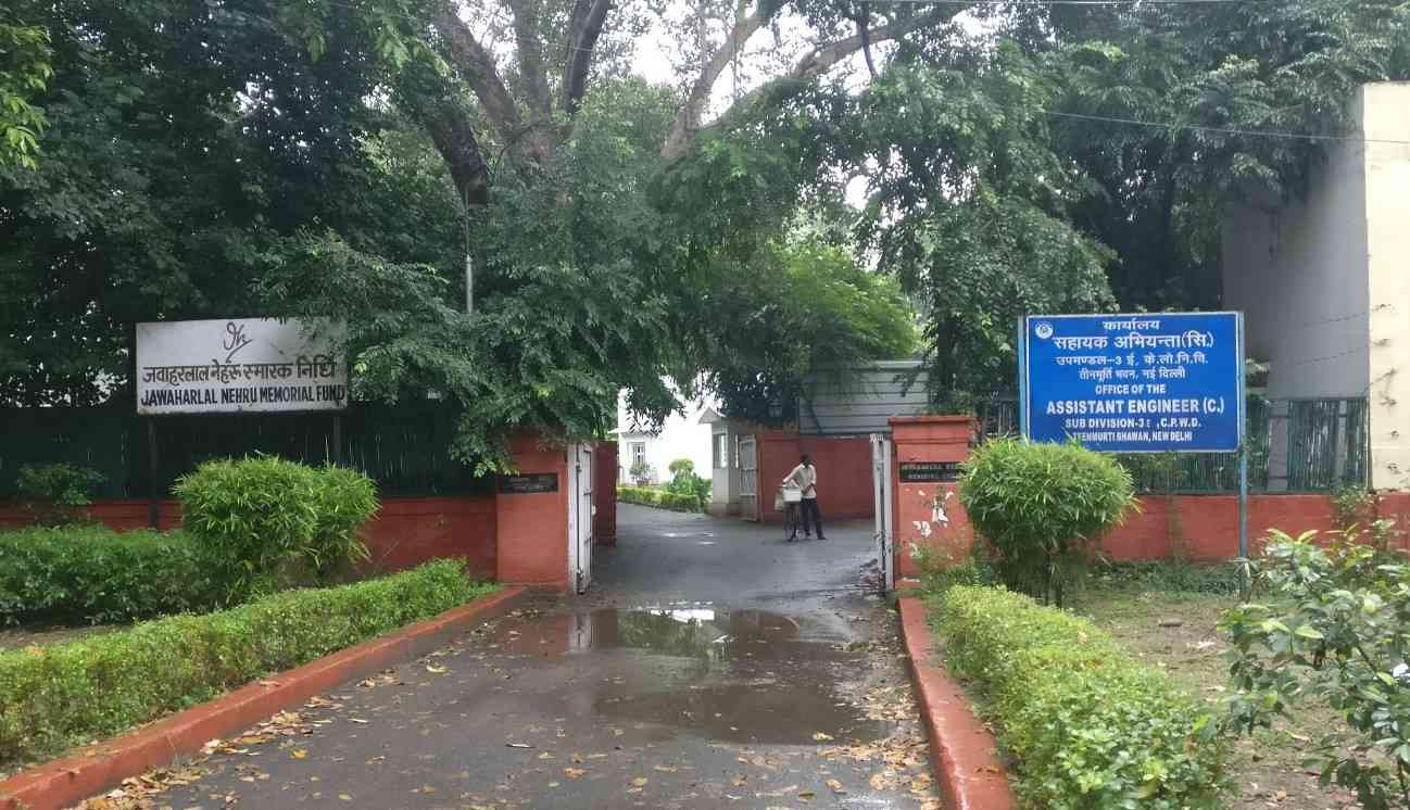 The Jawaharlal Nehru Memorial Fund's office on Teen Murti House's Estate