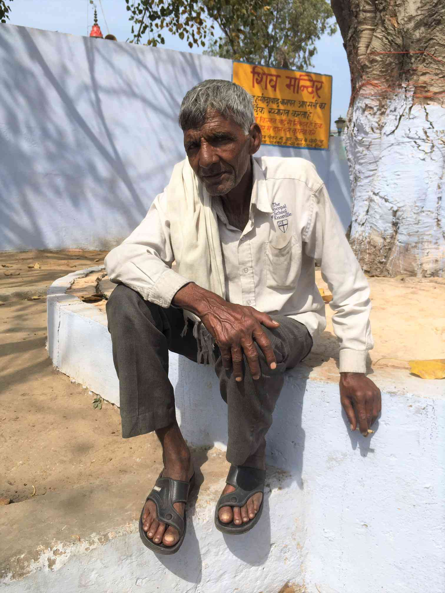 Shyam Singh at his home in Naya Gaon, Baghpat. Photo credit: Akash Bisht
