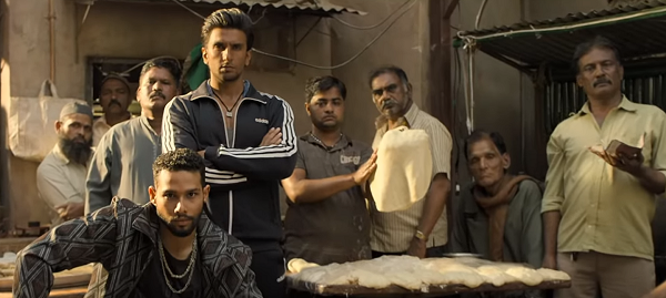 Siddhant Chaturvedi and Ranveer Singh in Gully Boy (2019). Courtesy Excel/Tiger Baby.