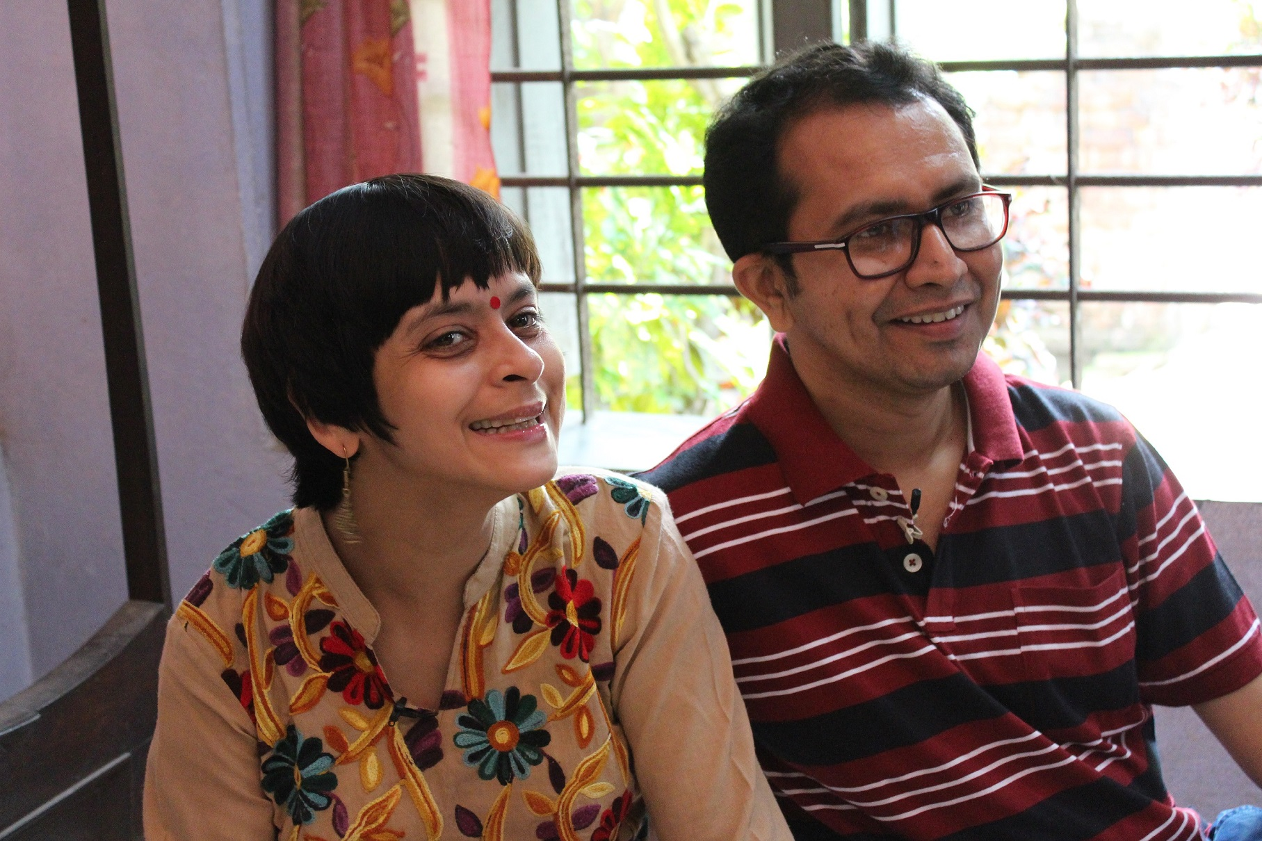 Jeeja and her husband Bappaditya Nag. Courtesy Public Service Broadcasting Trust.
