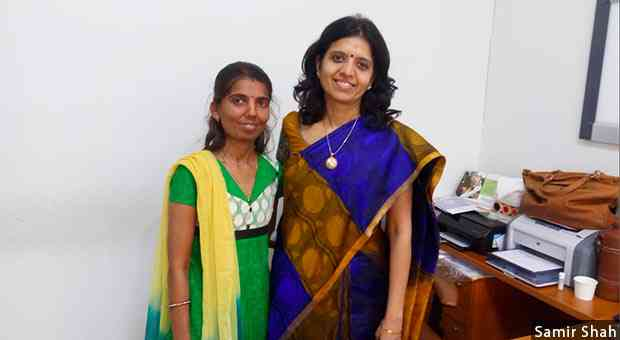 Extremely drug-resistant TB patient Vaishali Shah, 39 (left), with Alpa Dalal, consultant doctor at Group of Tuberculosis Hospital in Sewri, Mumbai, where Shah became the first XDR-TB patient from DPS-4 to receive bedaquiline.