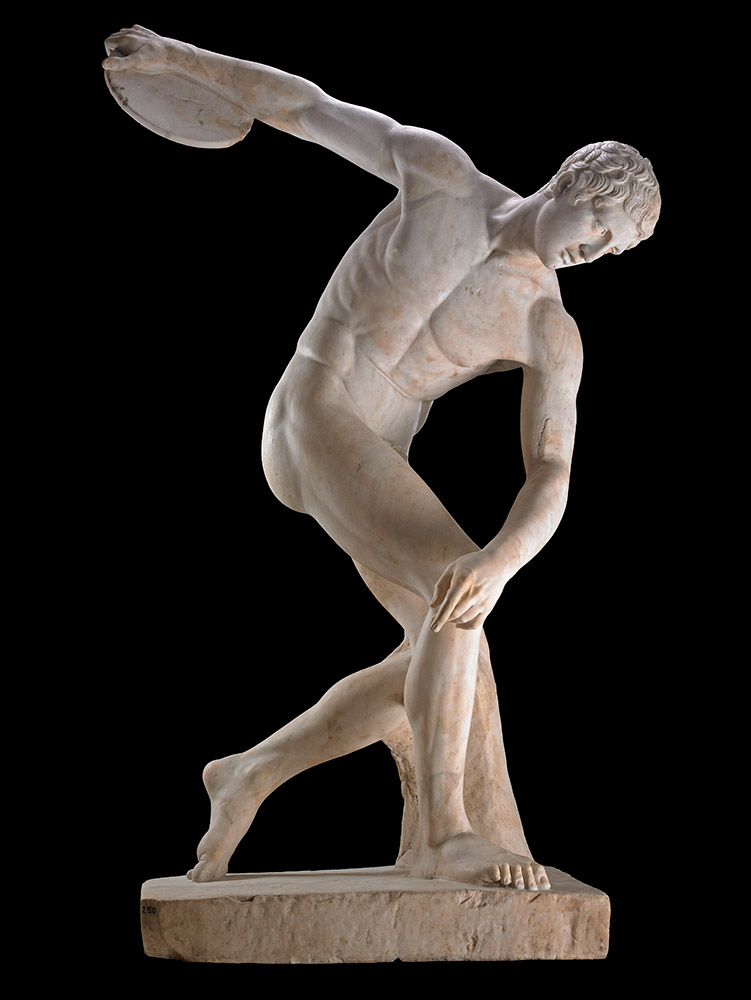The Townley Discobolus, 100 to 200 CE. Roman copy after Greek statue. Photo: The British Museum