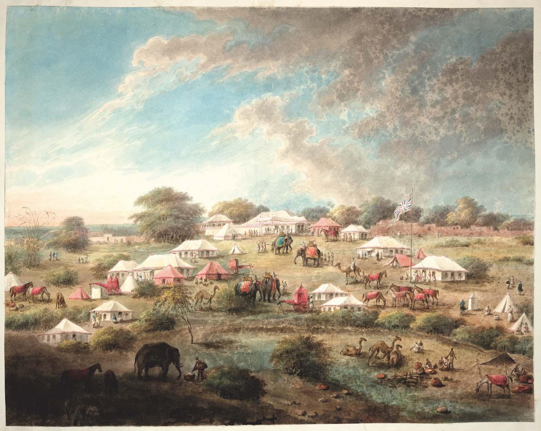 The camp of the Begum Samru at Nureela.