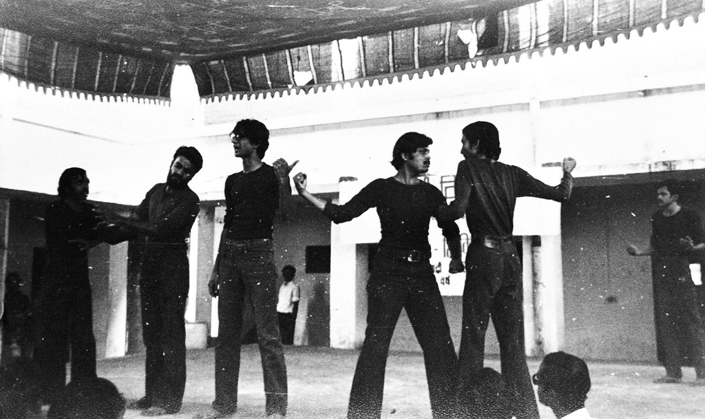 From the first performance of 'Machine', October 15, 1978 Image courtesy: Jana Natya Manch