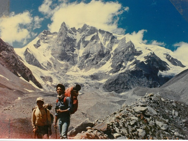 Mrinal Kanti Das during his mountaineering days.