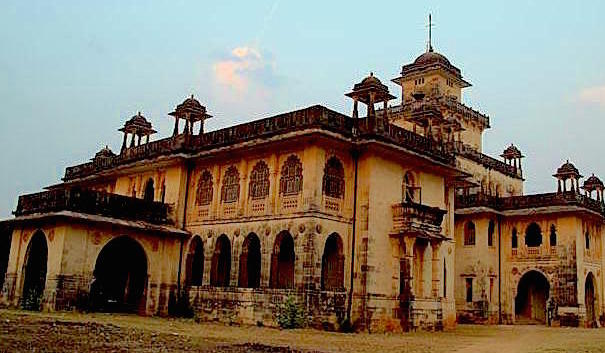 The palace of the Chota Udaipur royal family.