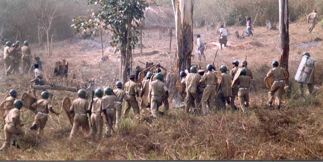The police action against Advasis in Muthanga forest in 2003.