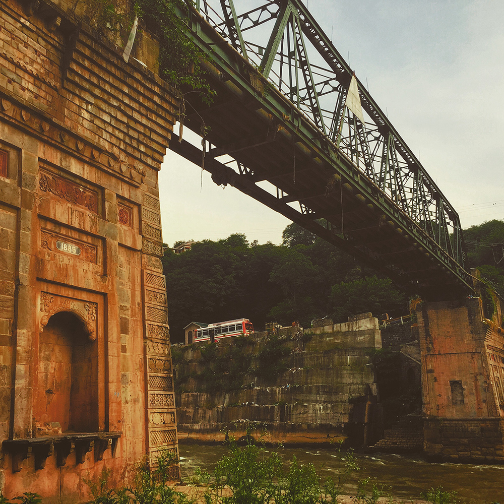 A pre-partition bridge over Jhelum at Muzzafarabad