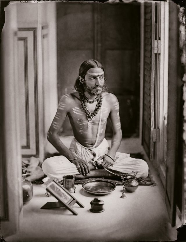Self-portrait as a Shiva bhakt, 1870. Photo credit: © Trustees, Maharaja Sawai Man Singh II Museum, City Palace, Jaipur