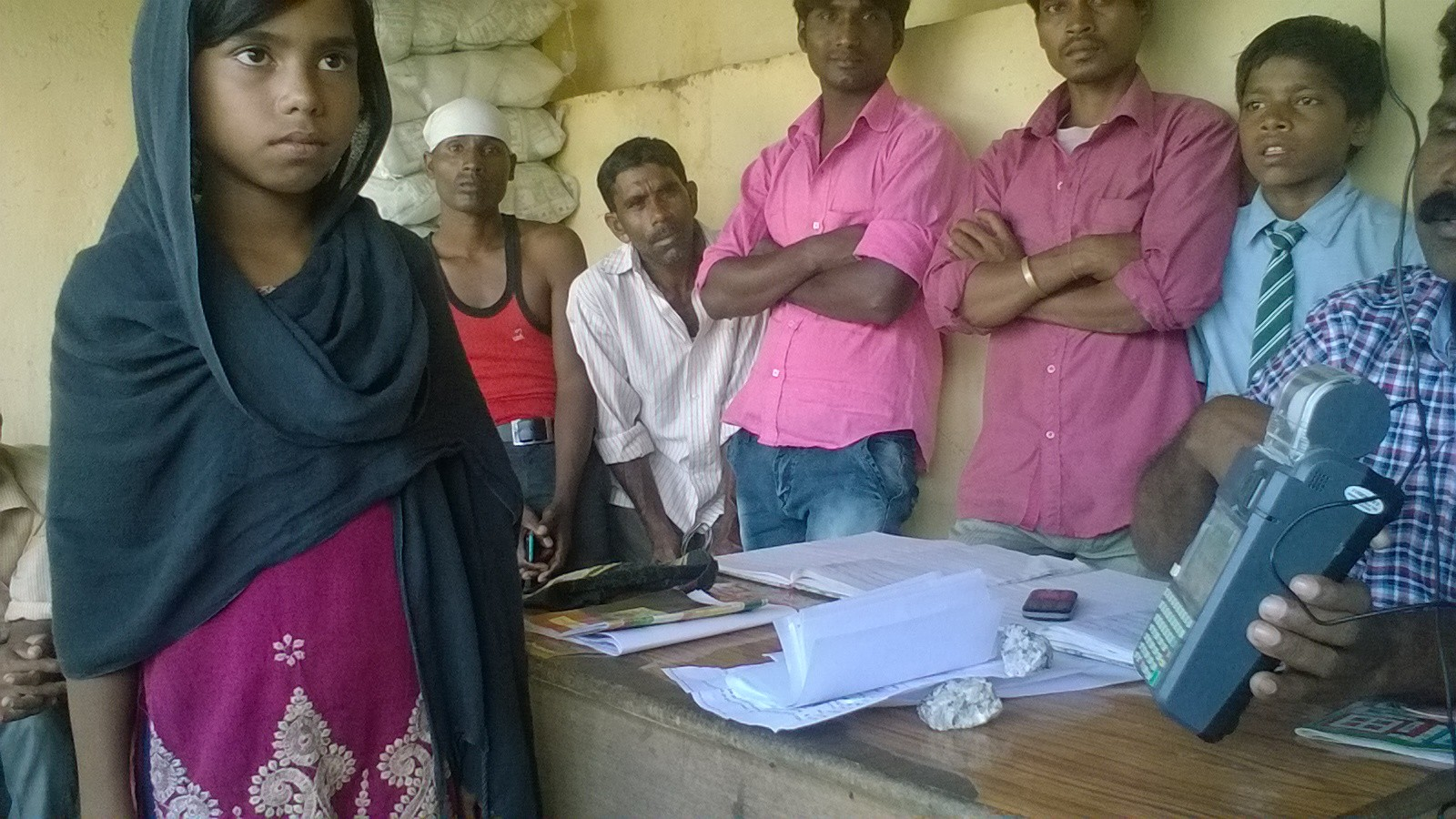 Nazia Parveen missed school and was at the ration shop in Hurhuri, Ratu block, for biometric authentication so her family could get their monthly ration entitlements.