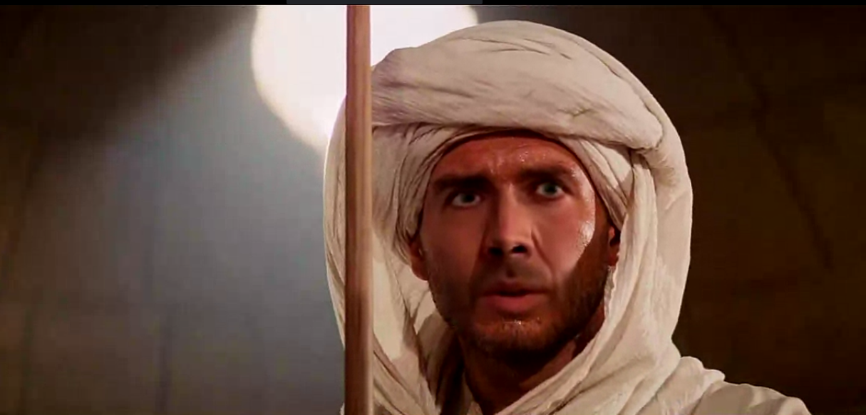 Nicolas Cage in the Indiana Jones movie Raiders of the Lost Ark (1981).