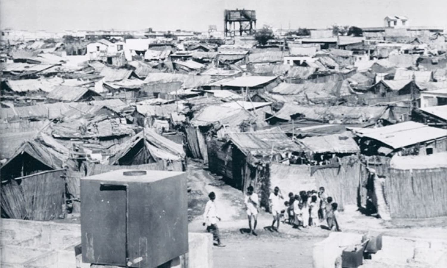 A widespread slum in Karachi in 1968.