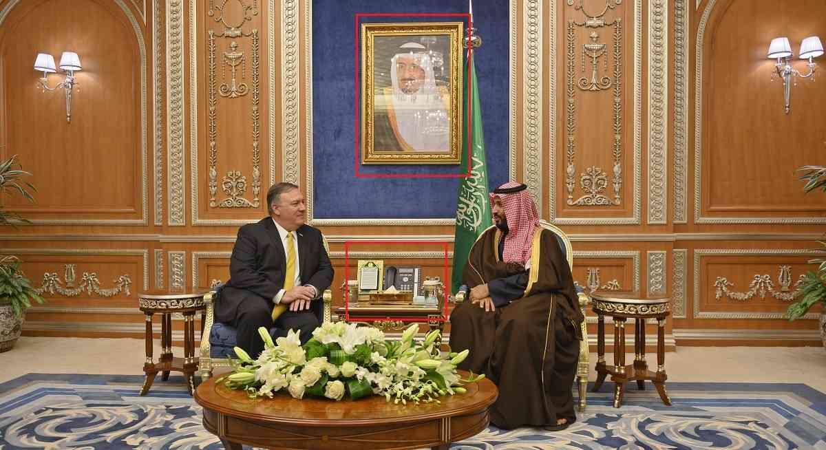2019 की एक तस्वीर में अमेरिकी विदेश मंत्री माइक पॉम्पियो के साथ प्रिंस सलमान (साभार : एएफपी)