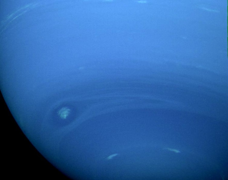 A natural colour view of Neptune by NASA's Voyager 2.  NASA/JPL