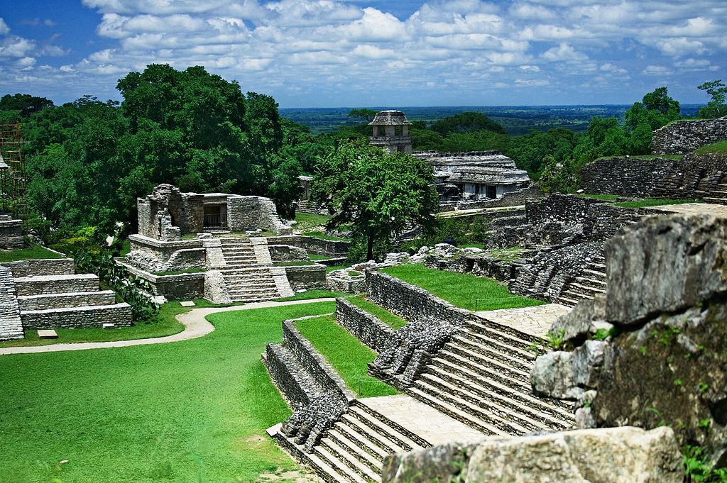 Ancient Maya City and Protected Tropical Forests of Calakmul, Campeche, Mexico, a World Heritage Site – a valued natural and cultural landscape located in the central/southern Yucatan Peninsula. The site protects both the ancient Mayan city of Calakmul and a large section of the Mesoamerica biodiversity hotspot, which encompasses all subtropical and tropical ecosystems from central Mexico to the Panama Canal. Photo credit: Jan Harenburg/Wikimedia Commons [Licensed under CC BY 4.0]