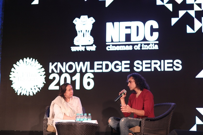 Nasreen Munni Kabir interviewing Imtiaz Ali at Film Bazaar.