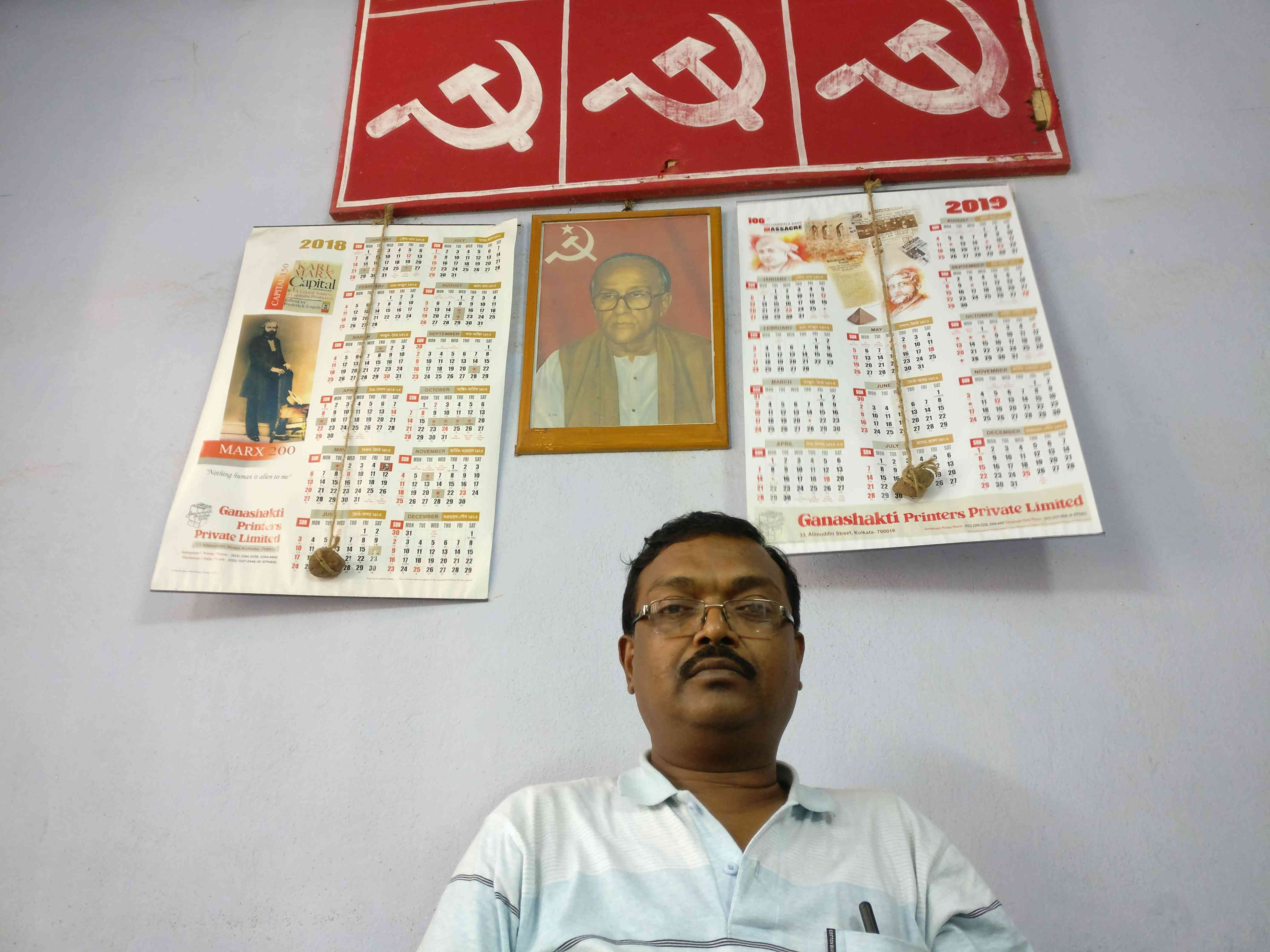 Communist workers want to defeat the Trinamool Congress at any cost and they feel joining the BJP will help achieve that goal, says Pradip Kumar Sarkar. Photo credit: Shoaib Daniyal
