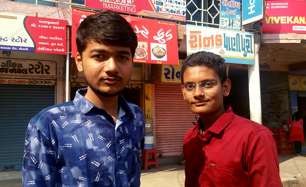 Parth Nakrani and Ravi Sanandiya are sons of ceramic tiles factory owners.