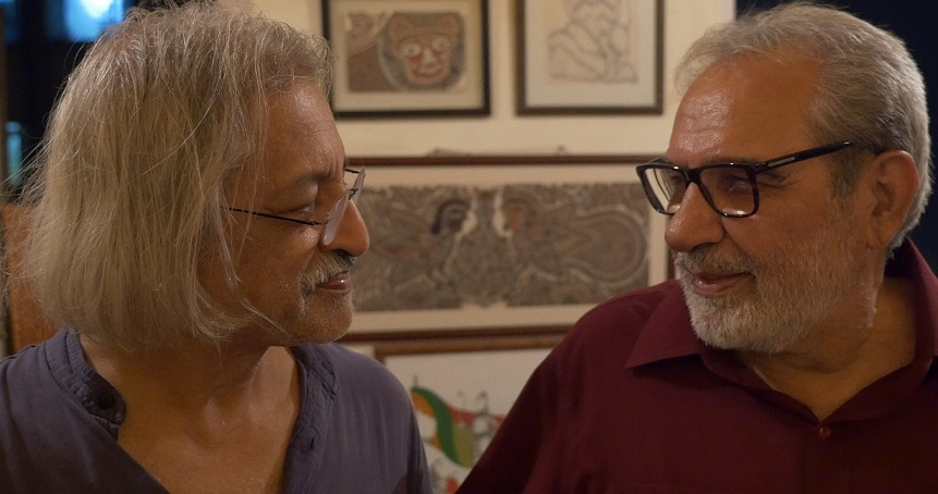Anand Patwardhan and Kulbhushan Kharbanda at Ganga Vihar.