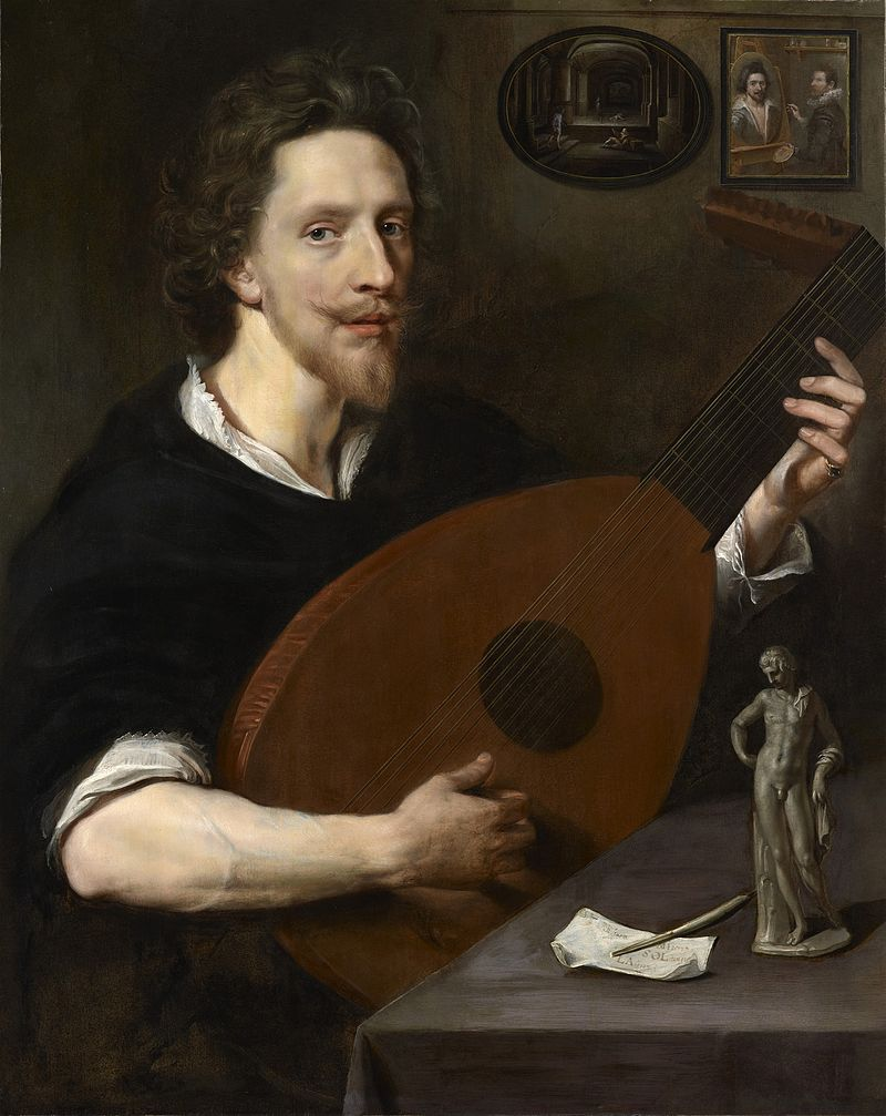Nicholas Lanier playing the lute. Photo credit: Weiss Gallery/Wikimedia Commons [Licensed under CC BY CC0]