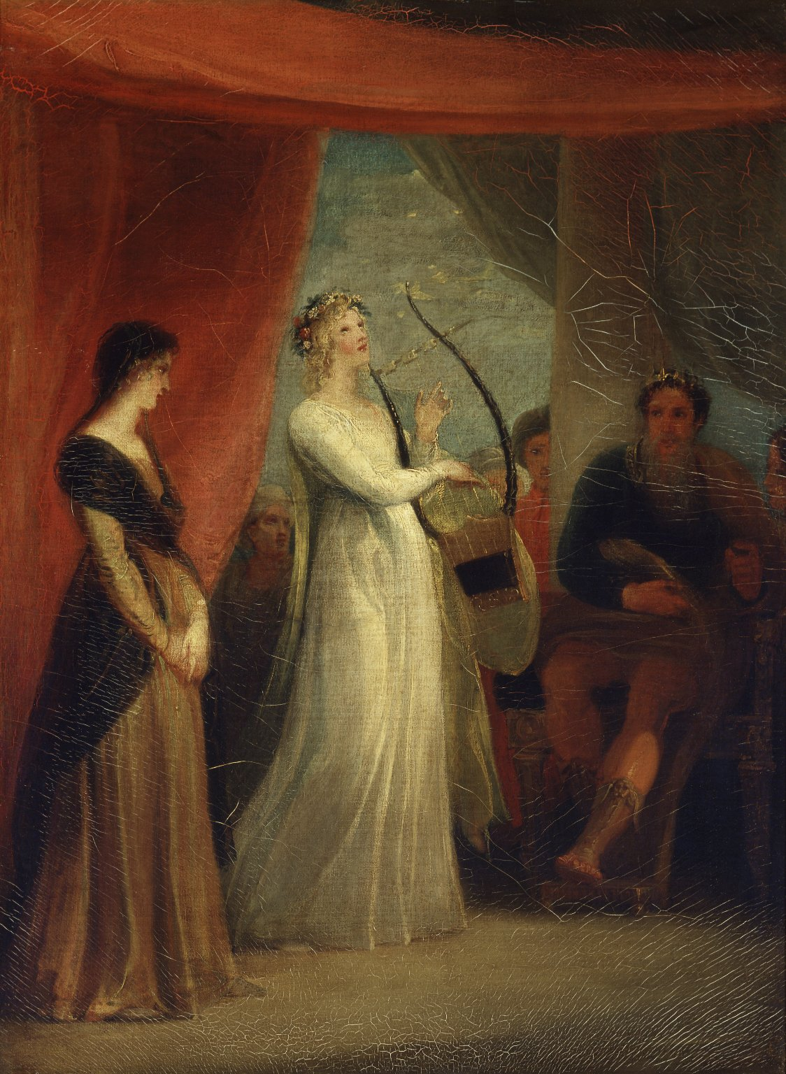 Marina sings before Pericles (Stothard, 1825). Image credit: Folger Shakespeare Library Digital Image Collection/Wikimedia Commons [Licensed under CC BY 4.0]