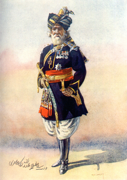 An officer of 15th Lancers. Watercolour by AC Lovett, 1910. Image credit: Wikimedia Commons [Public Domain]