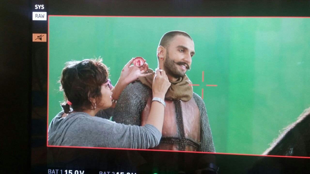 Preetisheel Singh and Ranveer Singh on the sets of 'Bajirao Mastani'.