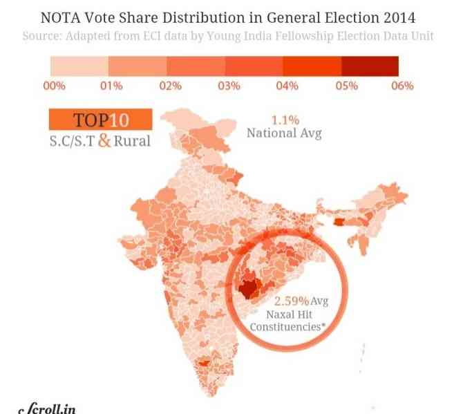 2014 के चुनाव में नोटा | साभार : scroll.in